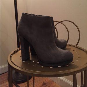 Michael Kors grey heeled booties